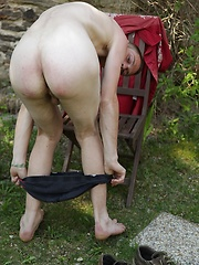 Cute twink Franky busts a big nut outdoors.